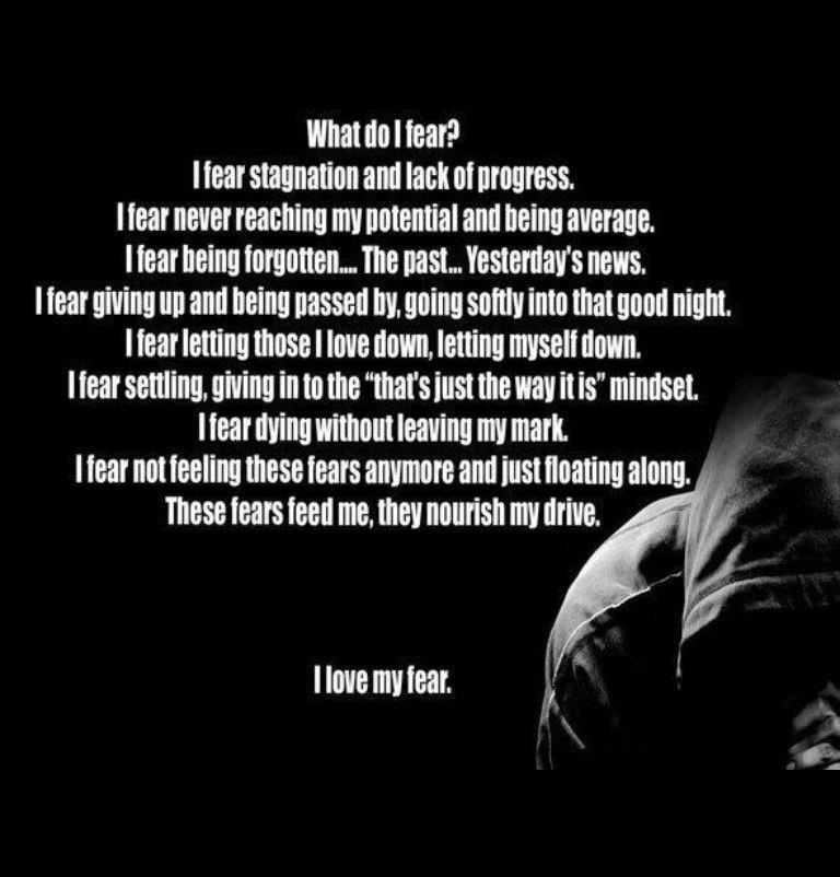 fear motivation goals inspiration