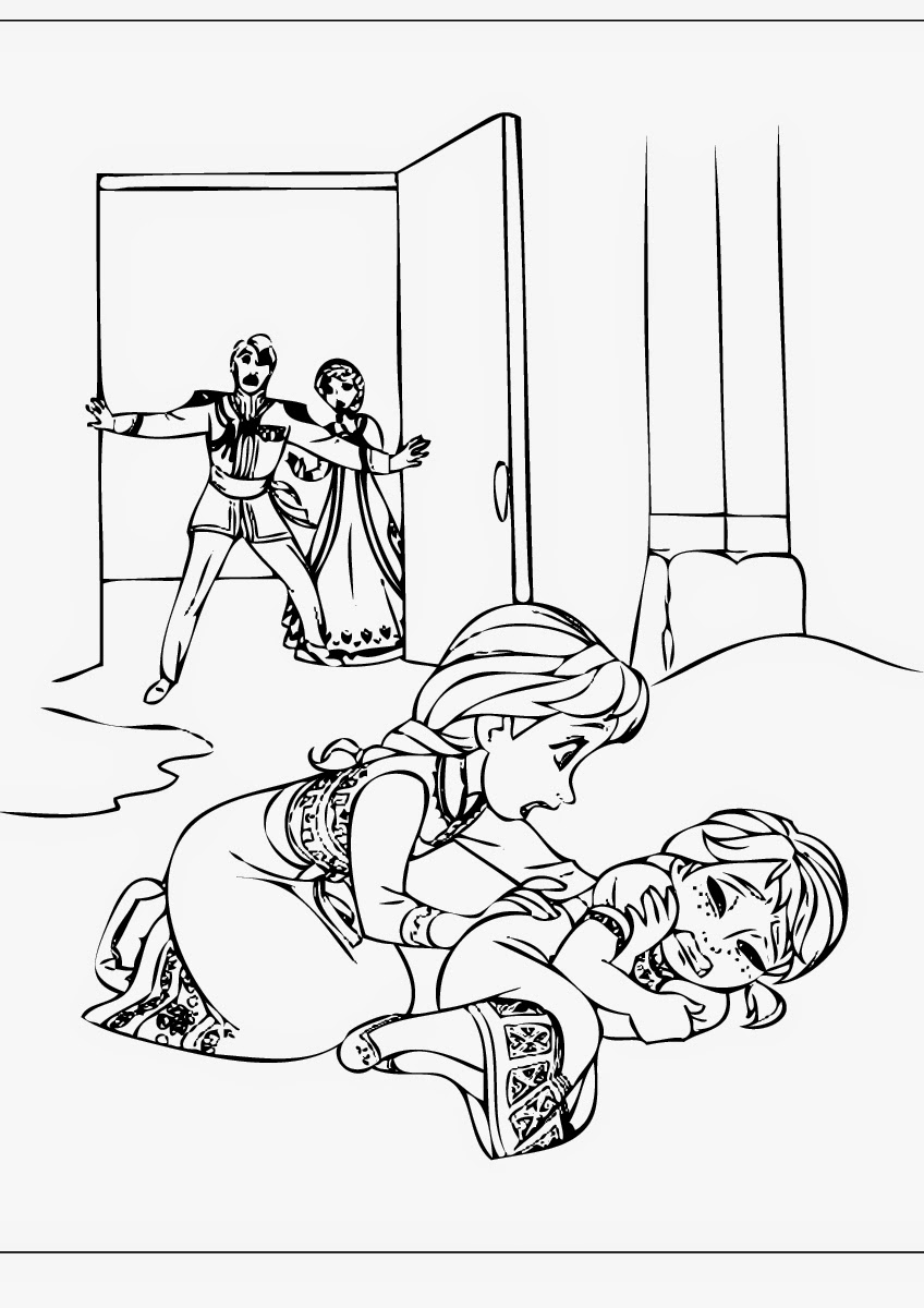 print frozen coloring pages