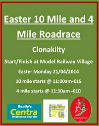 New 4m & 10m race in Clonaklity, Cork...Easter Monday