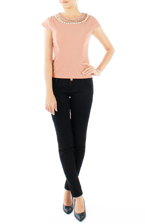Solitaire & Pearl LUXE Blouse in French Pink