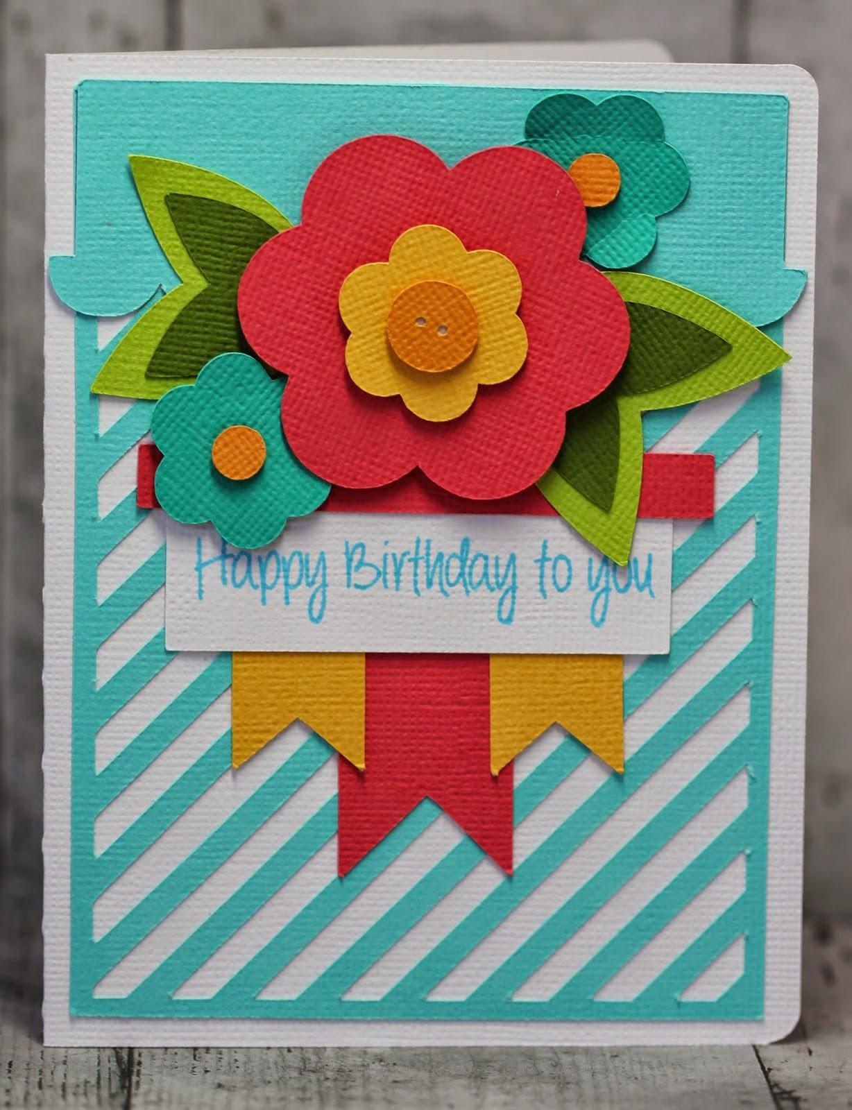 My Craft Spot Dt Post By Gwen Happy Birthday Flowers