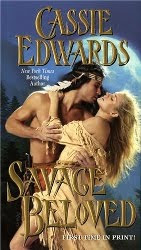 Cover for Savage Beloved - Noble Savage with Swooning Woman