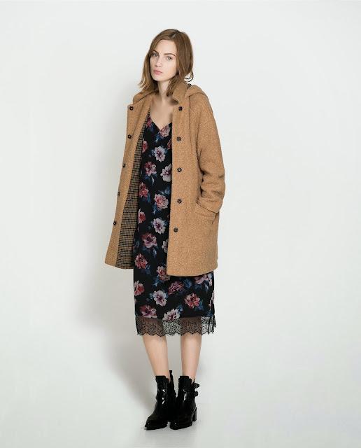 abrigo marrón zara trafaluc