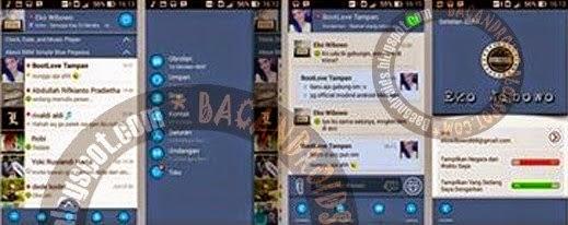 BBM MOD Simple Blue Pegasus v2.6.0.30 Apk