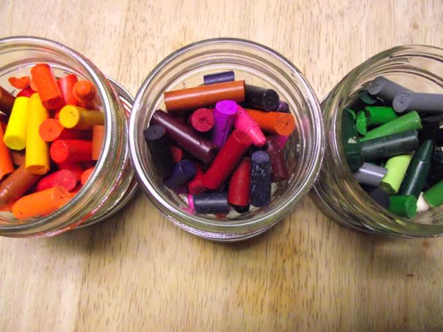 D.I.Y.Crayon Candles