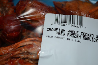 crawfish packaging from kroger |Cordier Crawfish Mac Recipe