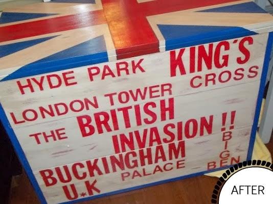 Union Jack Painted Dresser