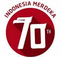 Logo HUT Ke-70 RI versi Baru 2015