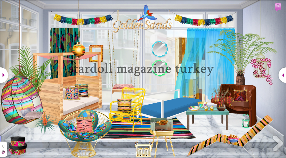 Golden sands yen dekor r nler stardoll magazine turkey for Dekor turkey