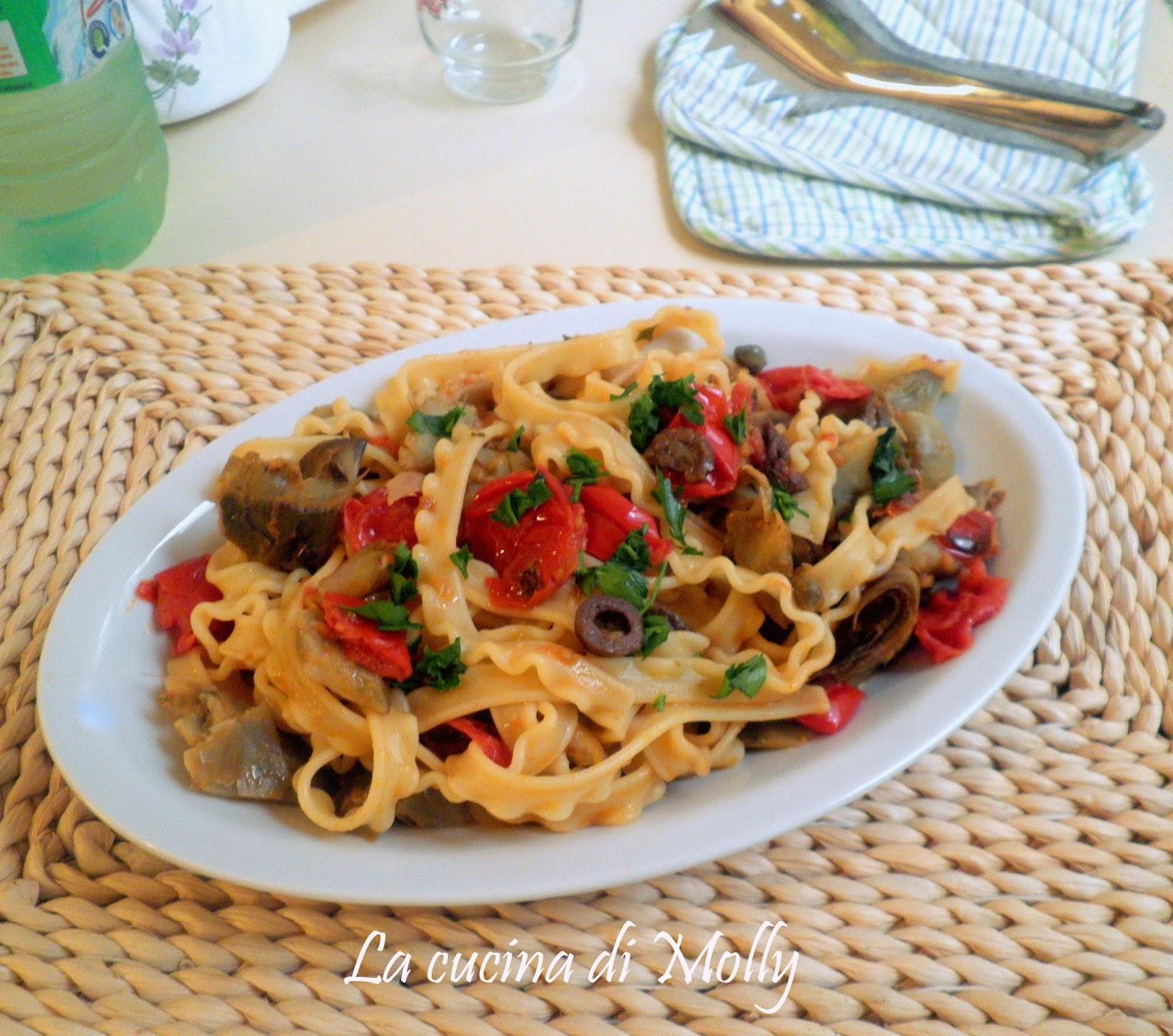 tripolina con carciofi e olive nere