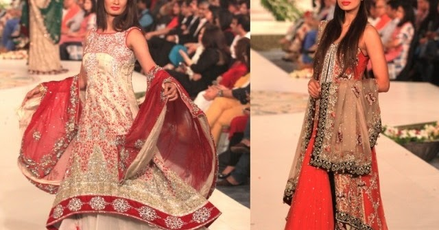 Mehndi Dresses At Bridal Couture Week Style 360 Latest 2013 Bridal Fashion Show Saima Beauty