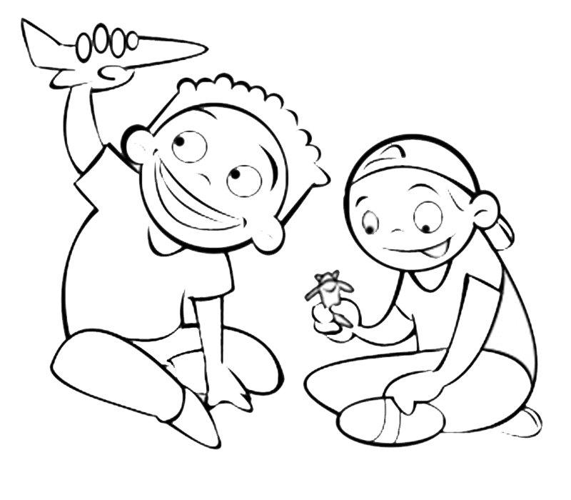 niños jugando dibujo - Ecza.solinf.co