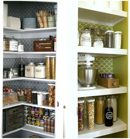 Organizing Pantry Shelves Realistically Organized Pantries: IHeart Organizing: Blogger Spaces: Organized Pantry Round-Up