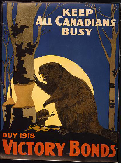 classic posters, free download, graphic design, military, propaganda, retro prints, united states, vintage, vintage posters, war, wildlife, Keep All Canadians Busy, Buy 1918 Victory Bonds - Vintage War Military Poster