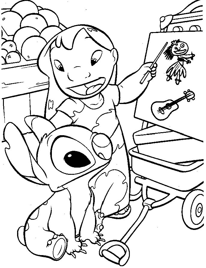 Disney Coloring Pages To Print: Lilo & Stitch Coloring Pages