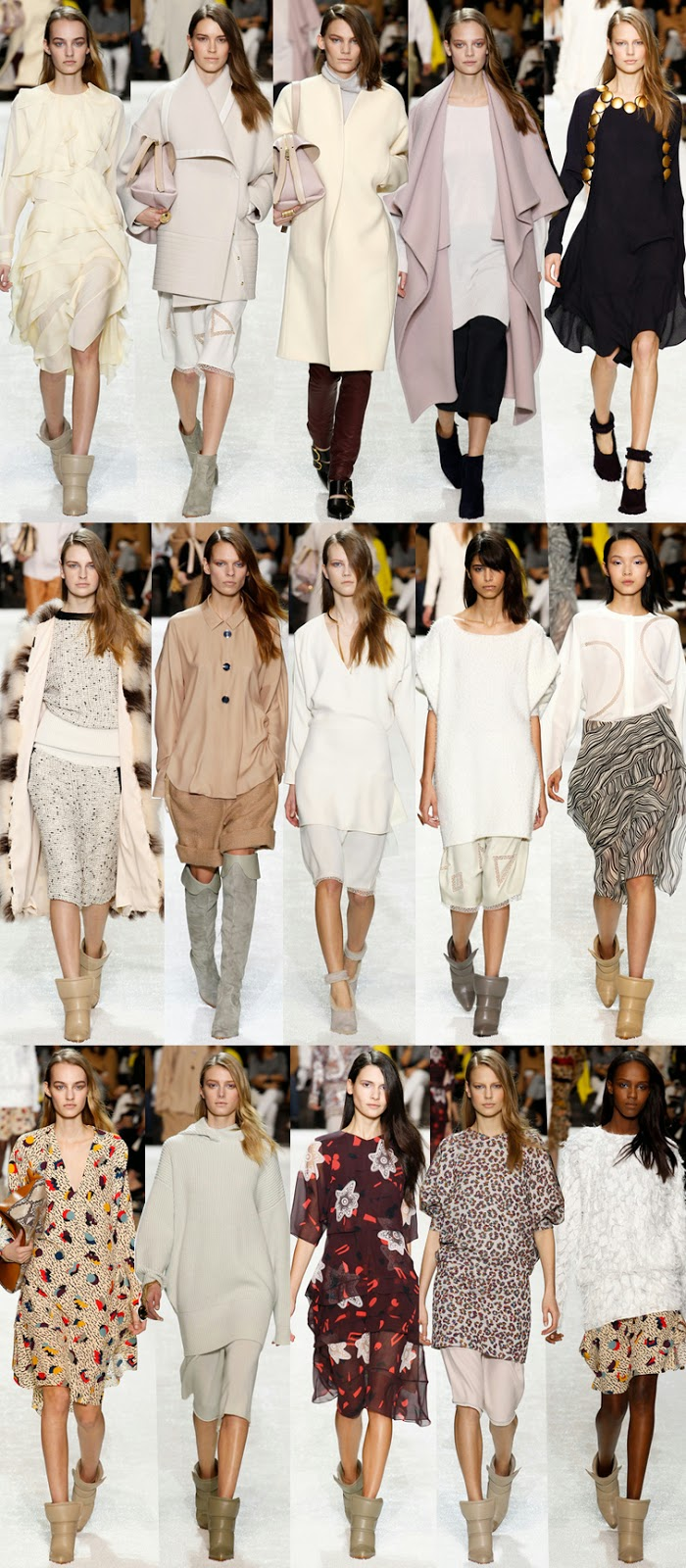 Chloe by Clare Waight Keller fall winter 2014 runway collection, PFW, FW14, AW14, Paris fashion week