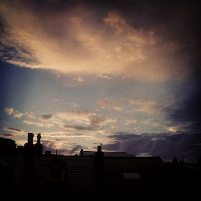 Sunset over Leeds rooftops