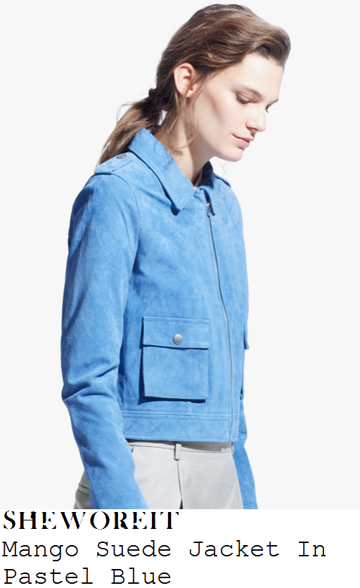 lauren-pope-light-blue-long-sleeve-cropped-suede-jacket