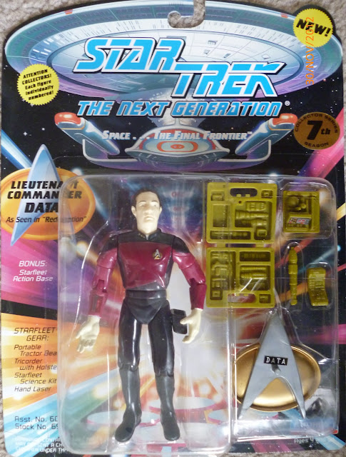 "Star Trek Playmates Redemption ""Red"" Data Action Figure"