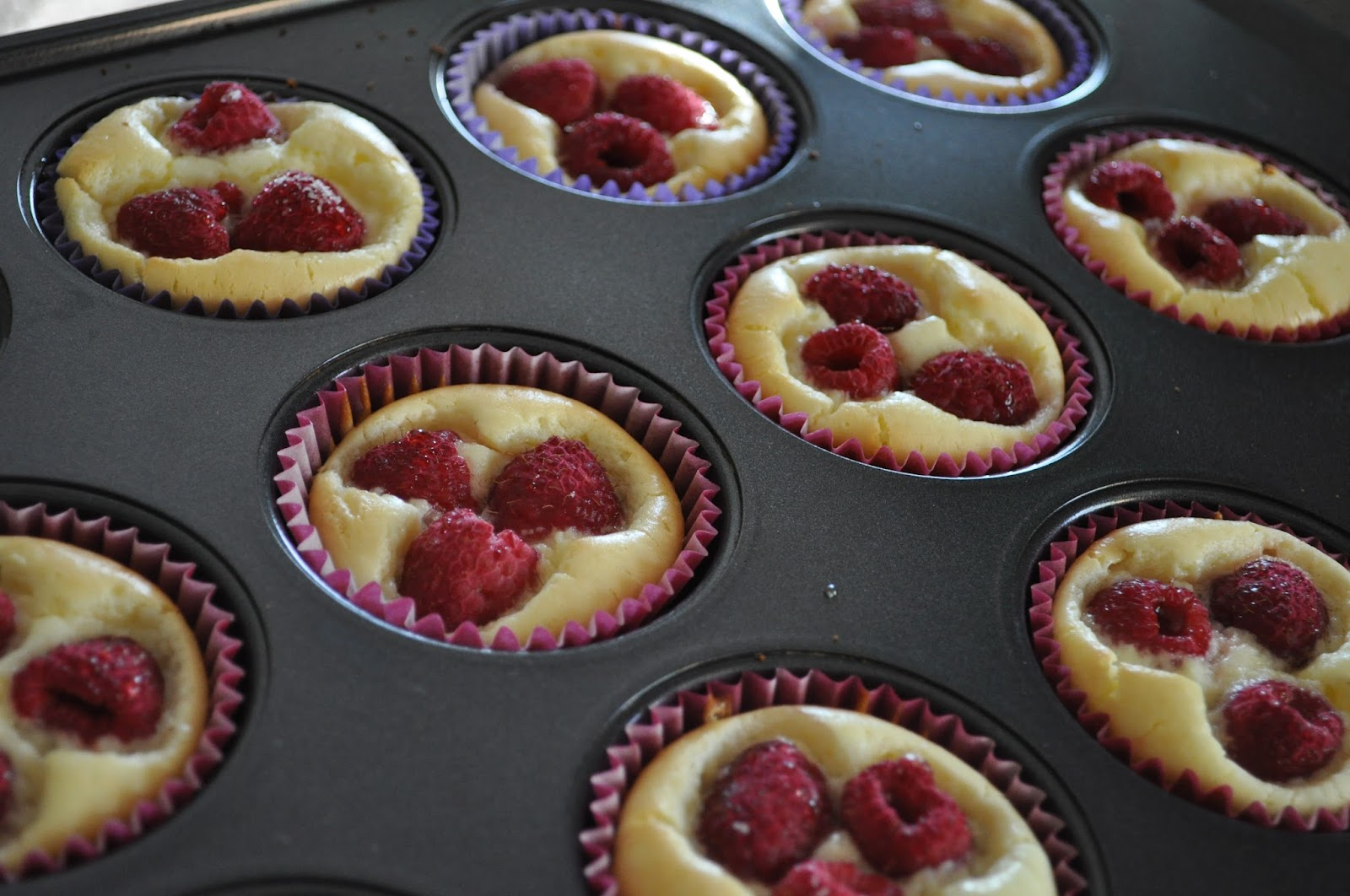 Cheesecakes with Raspberry Hearts (Cupcake of the Month Series #2