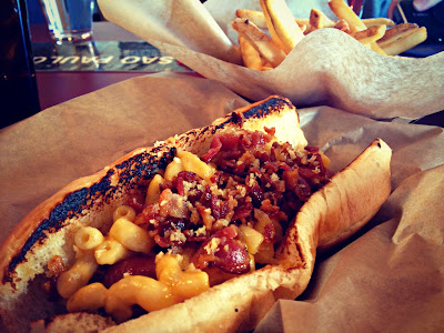 Crafty Dog (mac and cheese with bacon) from Urban Hotdog Company in Albuquerque, New Mexico