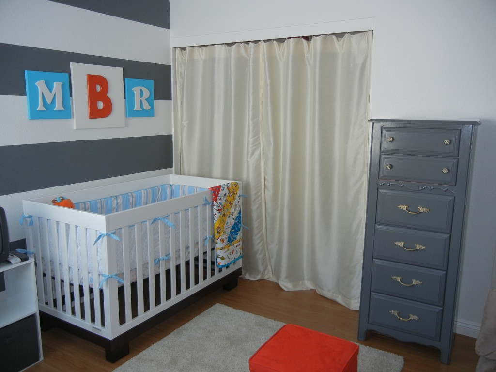 Custom Nursery Art By Kimberly Modern Baby Boy Nursery Ideas