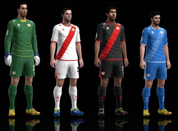 PES 2012 Rayo Vallecano 12 13 Kit Set by Txak