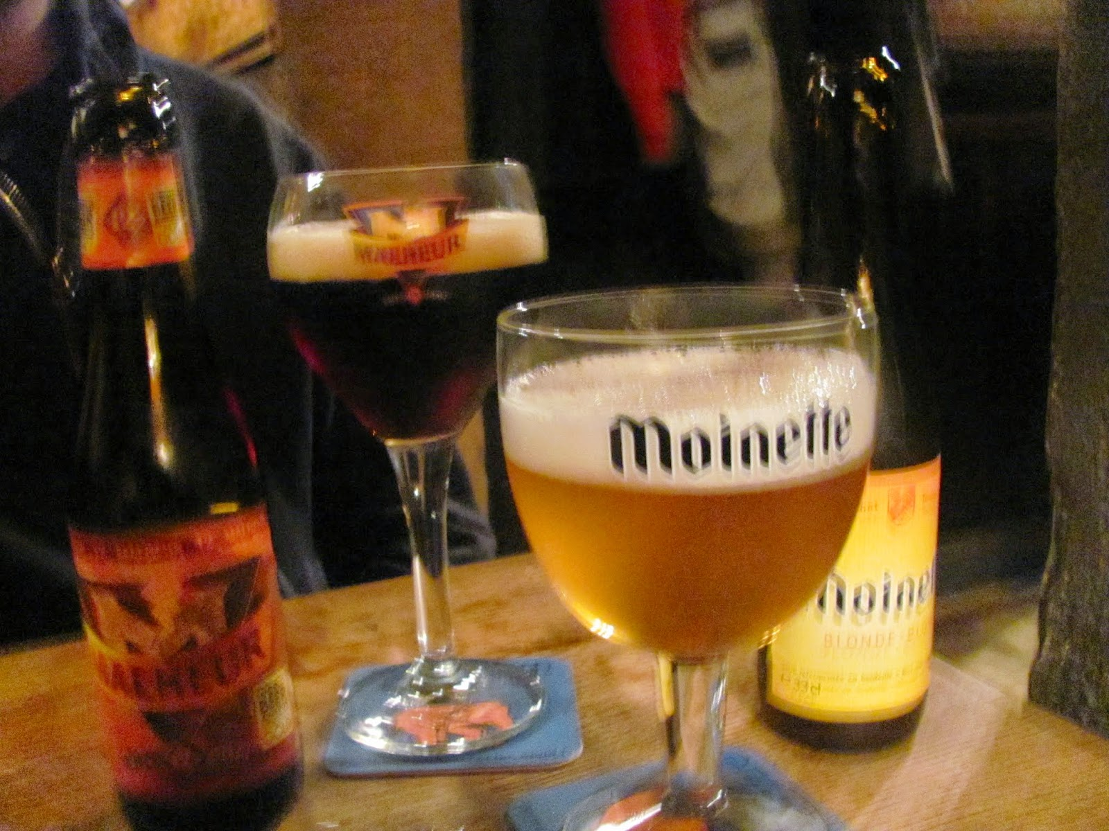 Blurry Beers in Bruges