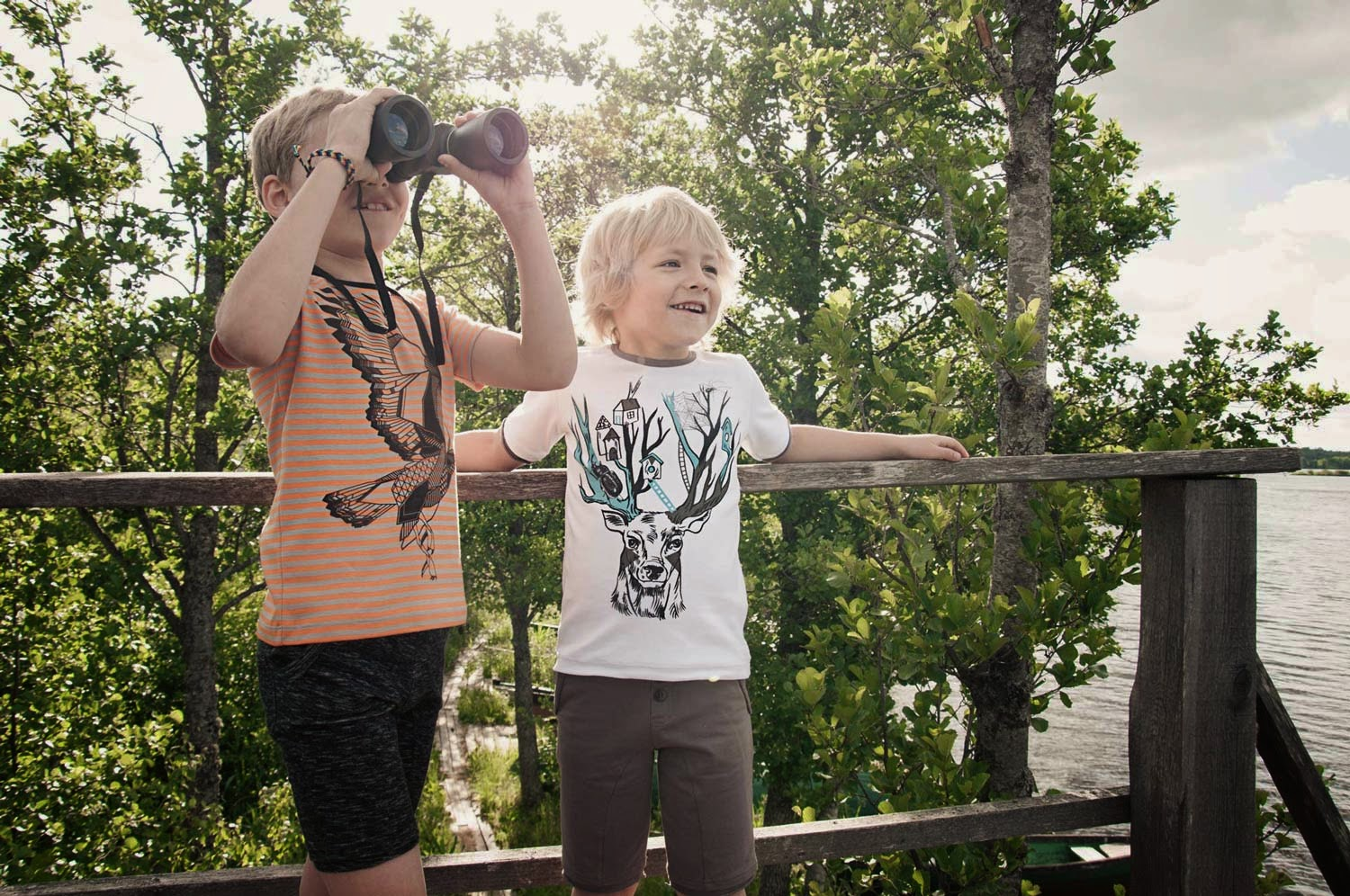 Brilliant artistic prints by Hebe for spring 2014 kidswear collection