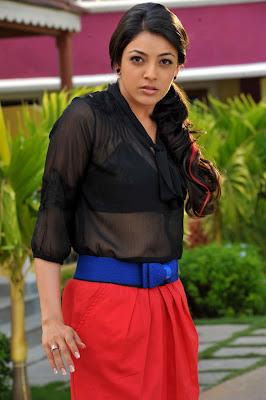 Kajal in black tops