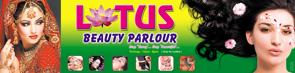 beauty parlour flex design  Media Square : Lotus Beauty Parlour