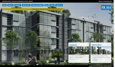 website PR1MA, cara pendaftaran perumahan PR1MA