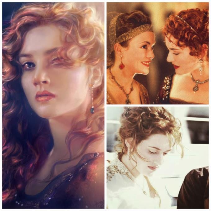 Titanic earring collage, Deviantart, Madeleine Astor earrings, Rose dinner earrings, Rose deck earrings, Rose strolling earrings, Titanic jewelry, Titanic jewellery, Titanic jewels