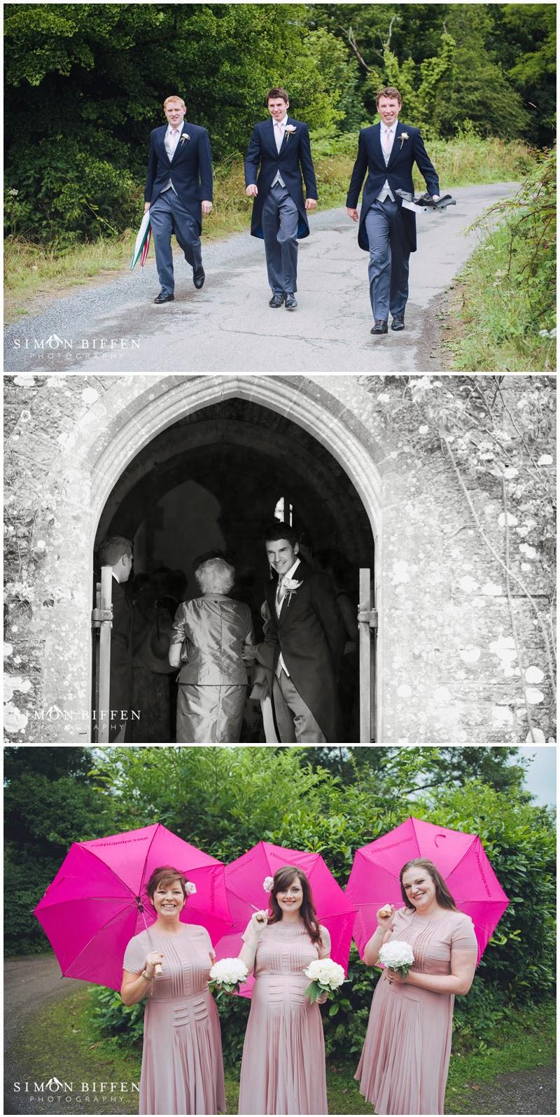 Huntsham Court wedding preparations