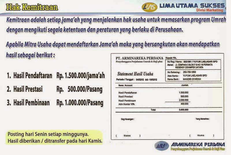 Hak Kemitraan Travel Umrah dan Haji Plus Arminareka Perdana