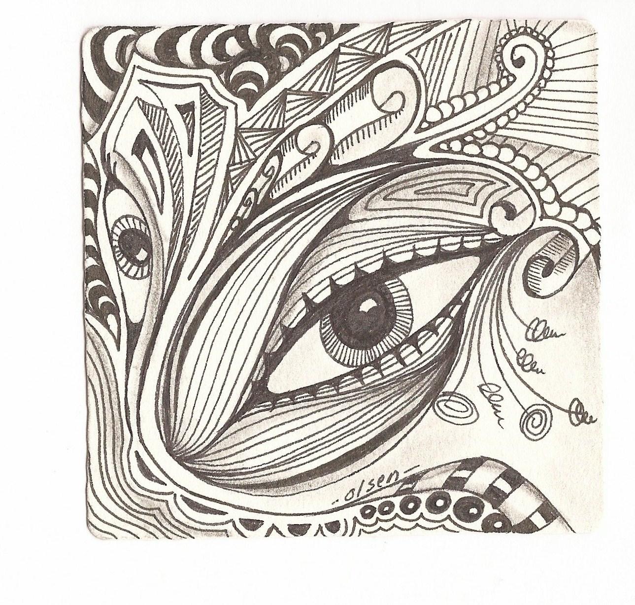 Gallery For gt Easy Zentangle Art