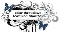 I was the Featured Stamper at the Color Throwdown Challenge