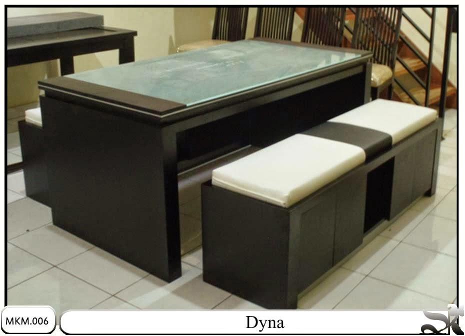 Meja dan kursi makan minimalis set dyna