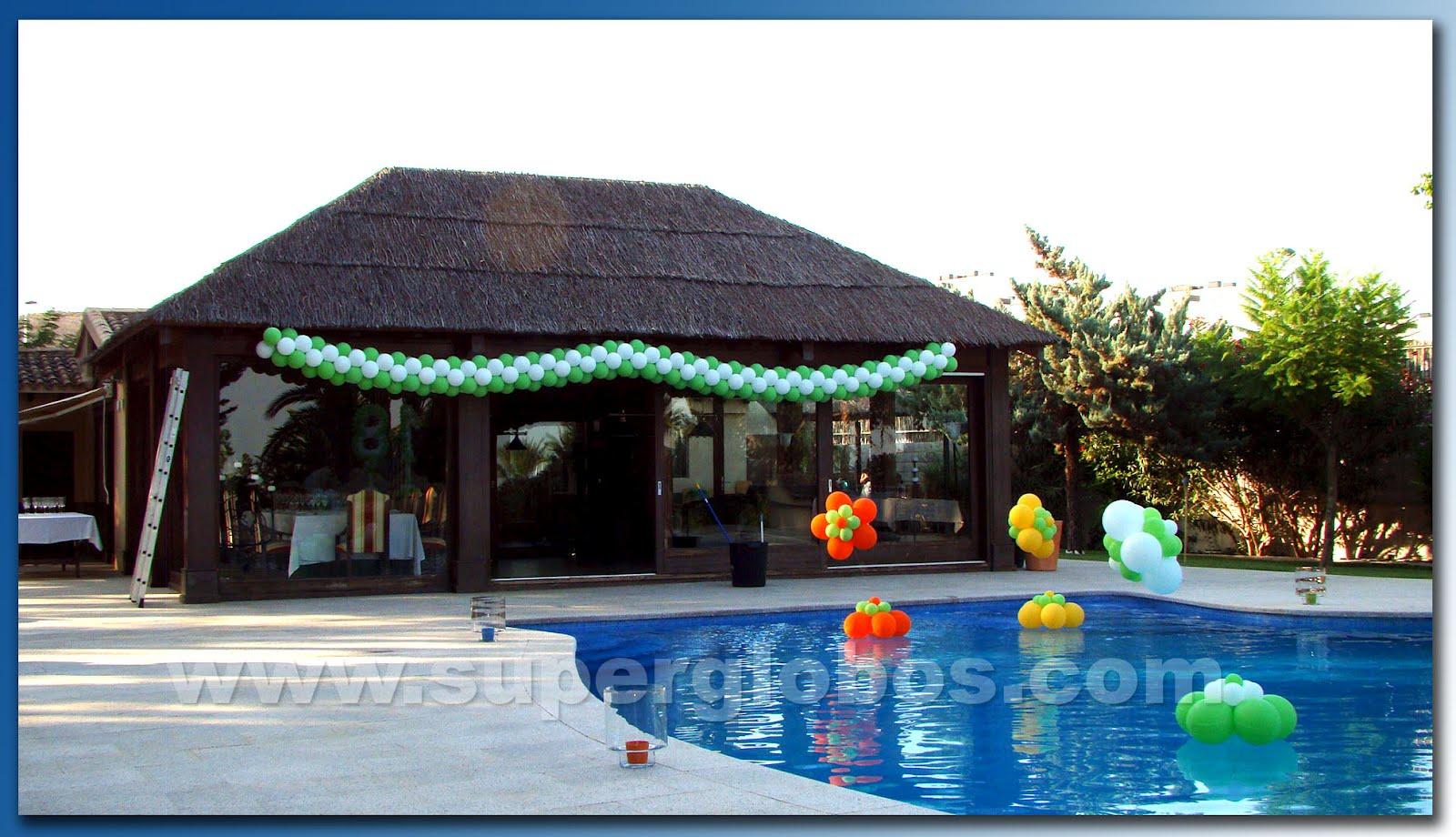 18 a os al aire libre decoraci n con globos para eventos - Decorar piscinas exteriores ...