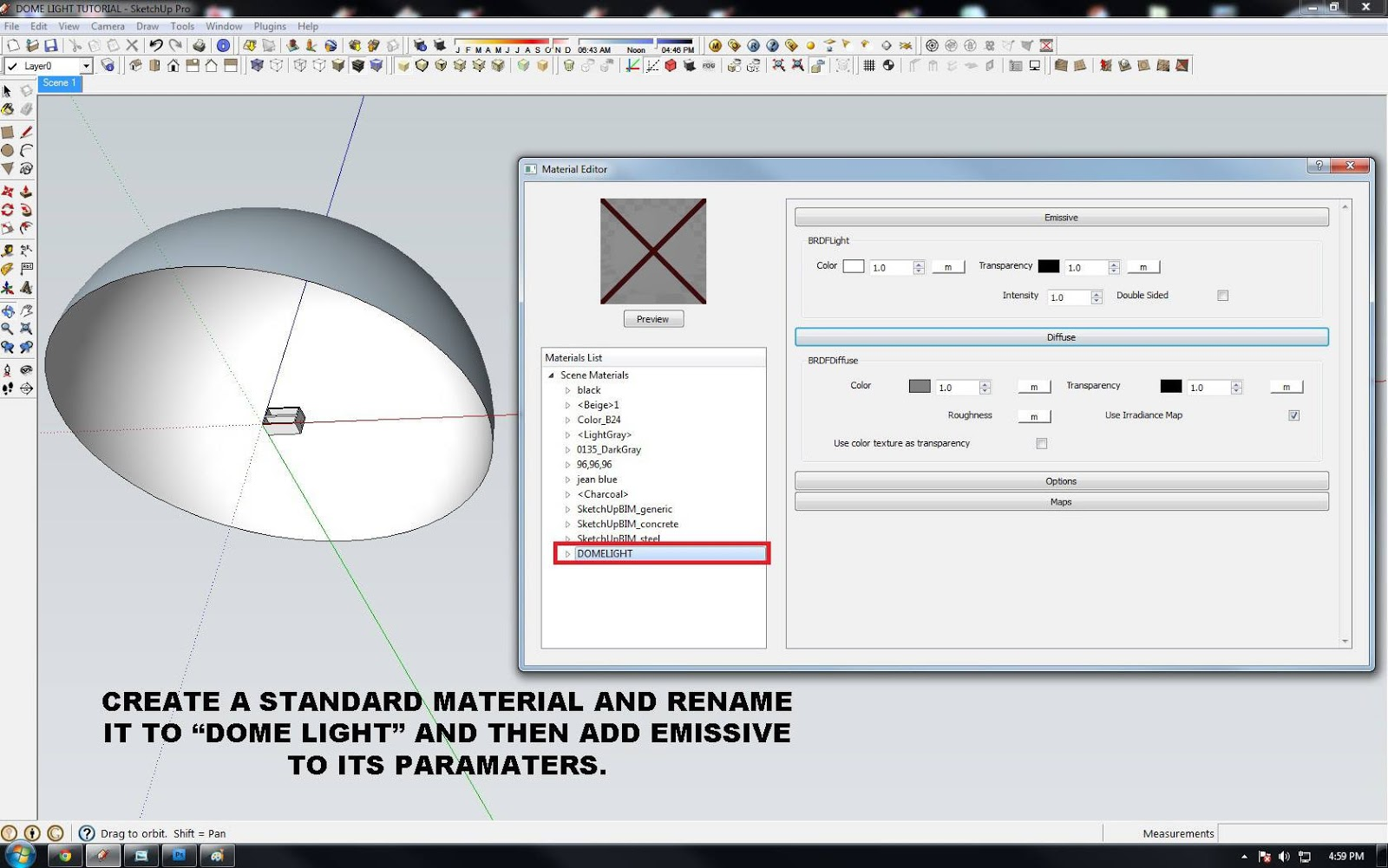 Sketchup texture tutorial artificial dome light in vray 149 step pooptronica