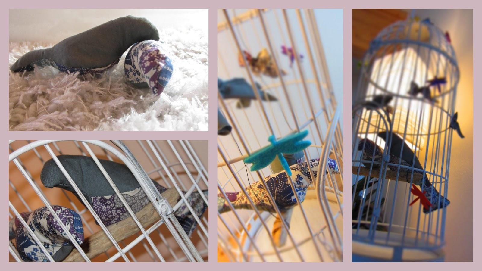 libellule la cage aux oiseaux et cours de couture. Black Bedroom Furniture Sets. Home Design Ideas