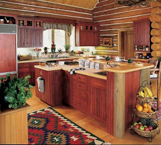 rustic kitchen cabinets picture