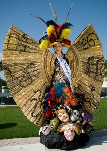 Miss Nicaragua 2011 Adriana Dorn with National Costume for Miss Universe 2011