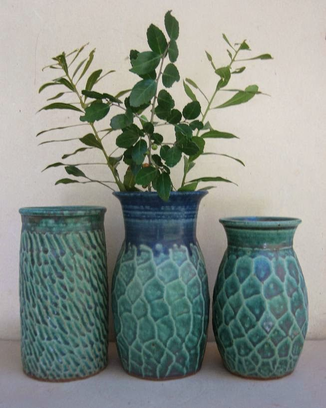 Jim Fineman Carved Vases