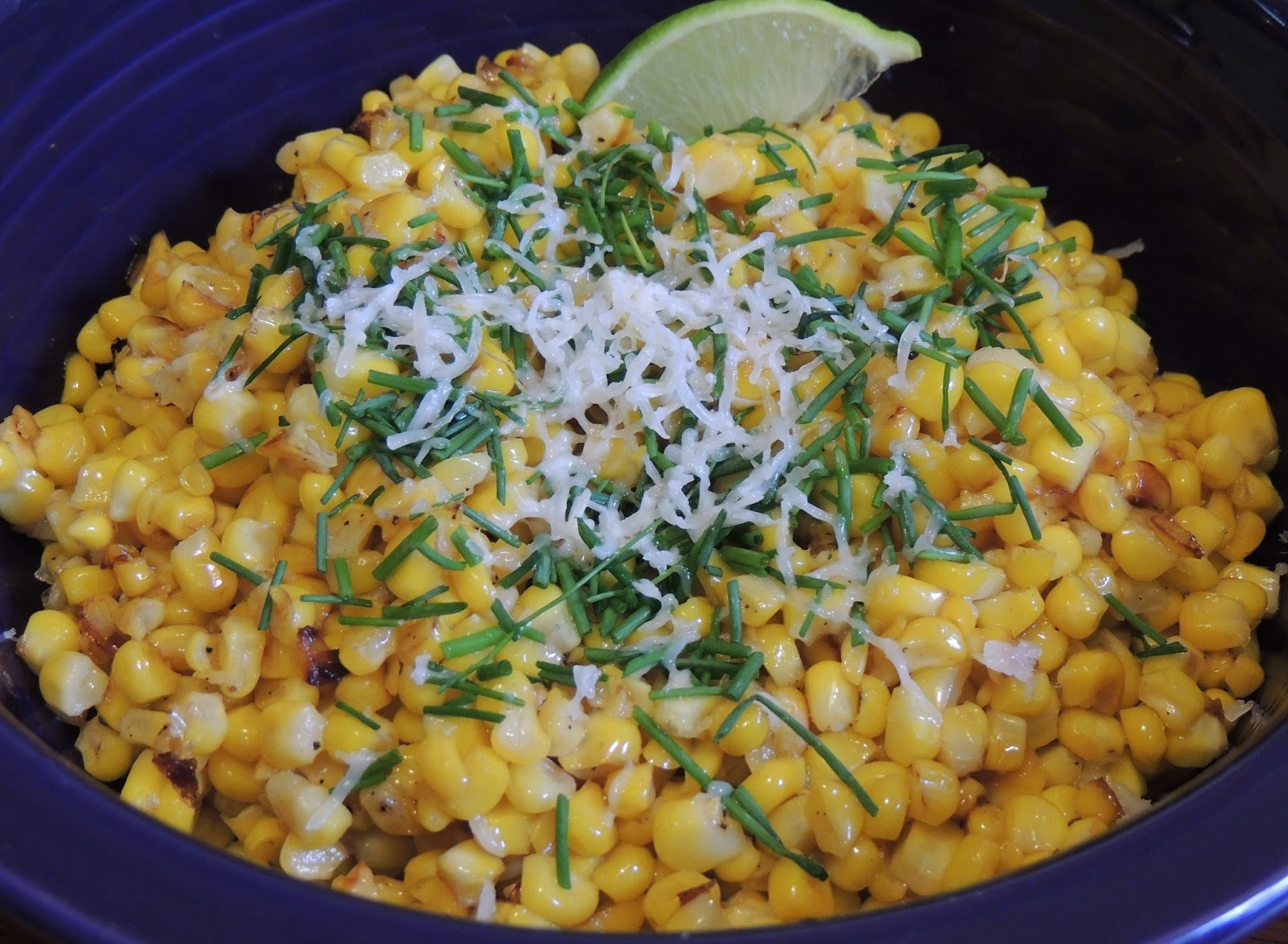 Roasted Corn With Manchego And Lime Recipe — Dishmaps