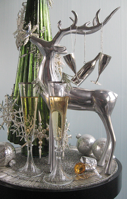 Large Metal Reindeer Decoration That Opens Up For Candle Inside