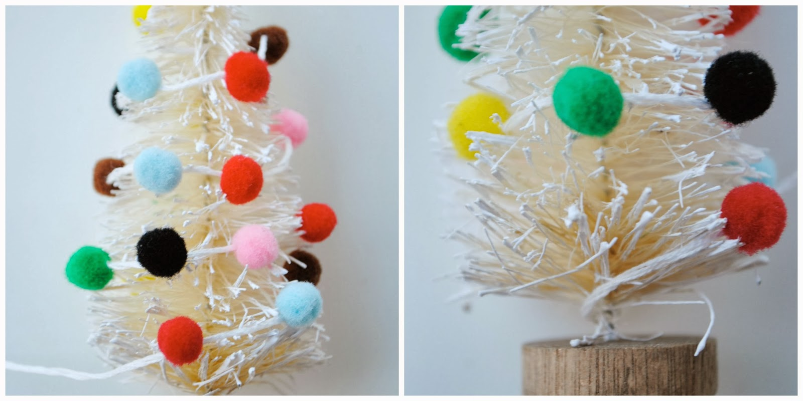 attach a loop at the top for hanging and you are finished - Little Christmas Trees