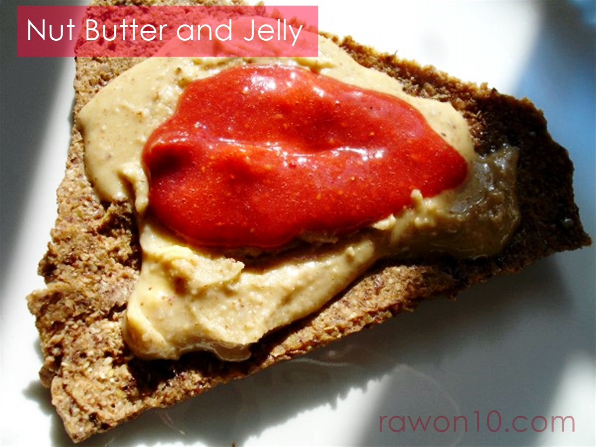 Raw on 10 a day or less nut butter and jelly raw food lunch nut butter and jelly raw food lunch recipe forumfinder Images