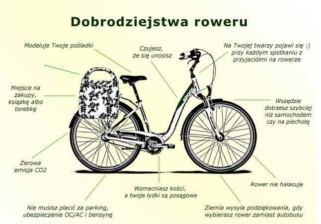Dobrodziejstwa roweru!