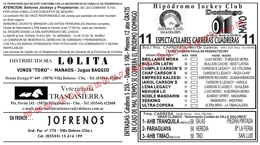 VILLA DOLORES - 1 - TAPA